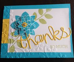 Stampin Up Crazy About You stamp set and Hello You Thinlits