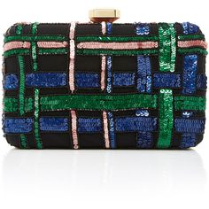 Elie Saab Embroidered Clutch (27.986.715 IDR) ❤ liked on Polyvore featuring bags, handbags, clutches, black, chain strap handbag, chain strap purse, elie saab, chain handle handbags and embroidered clutches