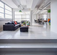 Roy David Studio designs shared studio space for Tel Aviv developers - informal lounge/ meeting area
