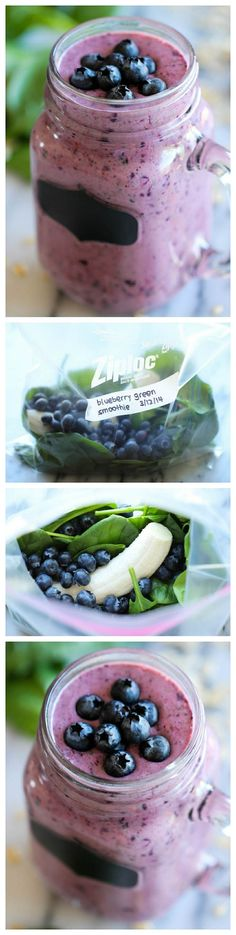 Berry Green Smoothie by damndelicious: Make-ahead freezer friendly smoothies that are healthy, nutritious and so refreshing for your mornings!