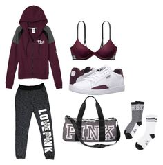 Victorias secret outfit(puma shoes) by crab91 on Polyvore featuring polyvore, fashion, style, Victoria's Secret, Puma and clothing