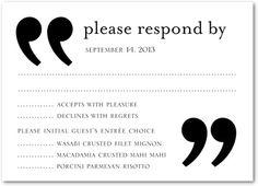 Signature White Wedding Response Cards Sophisticated Symbol - Front : Eggplant