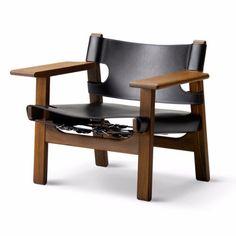 Fredericia Furniture Borge Mogensen Spanish Chair by Borge Mogensen - Danish Design Store Open Space Living, Scandinavian Furniture, Leather Furniture, Leather Chairs, Mid Century Modern Design, Solid Oak, Home Furnishings, Furniture Design, Spanish