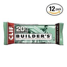 Clif Bar Builder`s Bar, Chocolate Mint, 2.4-Ounce Bars, 12 Count $18.99