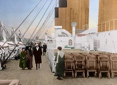 Beautiful Colorized Photos of Life On The Titanic Days Before It Sank – Popular Everything Titanic Ship, Rms Titanic, Titanic Photos, Belfast, Liverpool, Titanic Artifacts, Titanic History, Life Moves Pretty Fast, Abandoned Ships