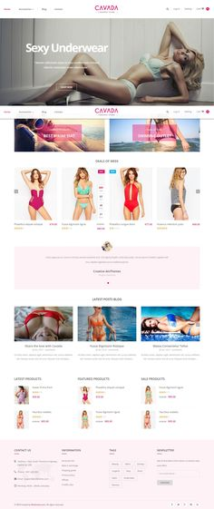 Cavada is a Premium Responsive Magento theme with extremely customizable admin settings. Suitable for every type of store. #sexy #underwear #bikini #Lingerie #eCommerce #template