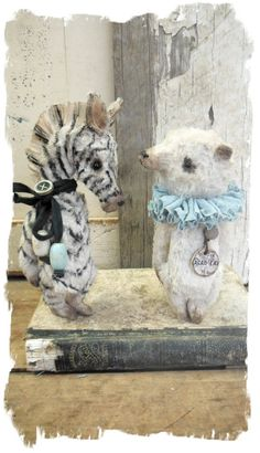 Antique Style ★tiny Zebra New Size Vintage Toy One Day Only ★ Whendi's Bears | eBay