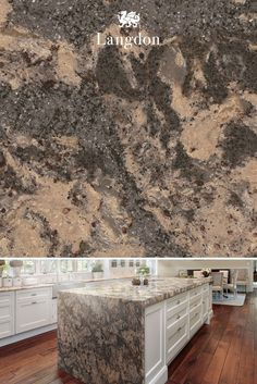 In our lovely Langdon™ design, beige, gray, and white come together to form a mesmerizingly-neutral surface. As a marble alternative, quartz is easy to care for and durable — a perfect option for any kitchen.