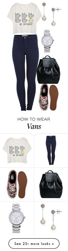 """Untitled #283"" by rhay-q on Polyvore featuring Pieces, Nadri, Vans, Michael Kors, women's clothing, women, female, woman, misses and juniors"