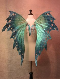 Ready To Ship Gorgeous Teal Blue/green by LadyOfTheOneRing Adult Fairy Wings, Diy Fairy Wings, Teal Blue, Blue Green, Fairy Cosplay, Blue Tips, Fairy Dress, Fantasy Dress, Lucky Star