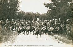 1914-1918 1914 Infanterie En Marche La Clique