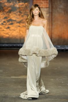I love Christian Siriano -- beautiful and interesting all at once. This gown is from his current Spring/Summer collection.