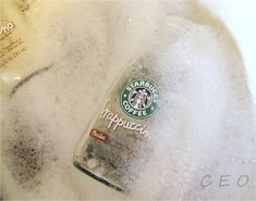 How to get the label off Starbucks bottles