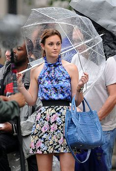 I need more floral on floral and a clear umbrella