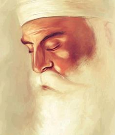 """One who is not touched by pleasure pain greed emotional attachment and egotistical pride. Nanak says listen mind: he is the very image of God."" (Guru Granth Sahib Ji -beautiful artwork by Guru Granth Sahib Quotes, Sri Guru Granth Sahib, Guru Nanak Ji, Nanak Dev Ji, Sikh Quotes, Gurbani Quotes, Qoutes, Beautiful Sketches, Beautiful Artwork"