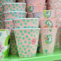 Pretty printed cups from @pink