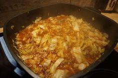 Kapuska -tuerkische Kohlpfanne mit Hackfleisch low carb - low fat #Jamieslowfatlowcarbrecipes