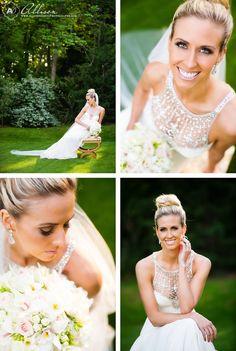 Beautiful elegant bridal updo Loren Bridal Portraits at Ashton Gardens by Allison Davis Photography