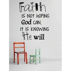 Zoomie Kids Faith is Not Hoping God Can, It is Knowing He Will Wall Decal Faith Quotes, Bible Quotes, Jesus Quotes, Blessed Quotes, Prayer Quotes, Quotable Quotes, Bible Scriptures, Make It Happen Quotes, Christian Wall Decals