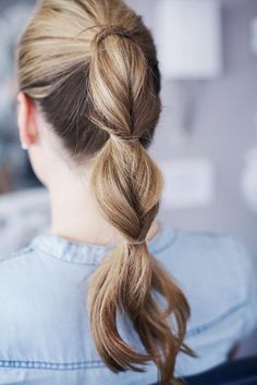 Triple Loose Braid Pony.