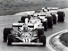 1977 Lauda Ferrari 312 T 2 Alan Jones Shadow -Ford DN8 y Jochen Mass Mclaren-Ford M23