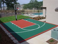Small Backyard Basketball Court Ideas Amazing Outdoor Cost Home Design 15