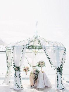 Featured Photographer: Milk and Honey Studio Space Wedding, Mod Wedding, Wedding Table, Dream Wedding, Wedding Ceremony Decorations, Wedding Ideas, Wedding Flowers, Wedding Dresses, Floral Design