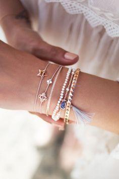 DIAMOND FLOWER Textil Armband