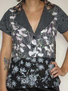 Blusa Tangran - patchwork