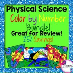 This is a bundle of my 9 Physical Science Color by Number Activities! This is…