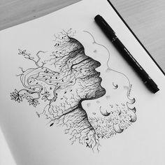 Continue Regando. 🌱  Feita por Dinhovysk      #draw #leaf #leaves #ink #geometry #art #moleskine #unipin #electricink #bodyart #illustration #draw #desenho #paz #flower #pétala #coifa #caule #ilustração #arte #estúdio #studio #dinhovysk    #equilattera #bw #bwbr #tattoo2me #blackworkers #blackworker #fabercastell #unipin #mitsubishi