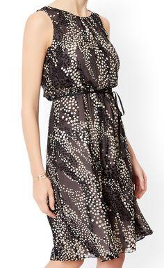 MONSOON Marie Spotted Silk Dress.  UK14 EUR42  MRRP: £129.00GBP - AVI Price: £55.00GBP