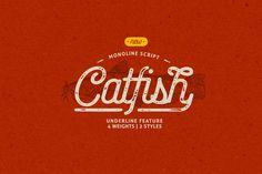 Catfish Monoline Script by MyCreativeLand on @creativemarket