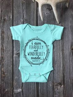 Fearfully & Wonderfully Made Baby Onesie/Bodysuit
