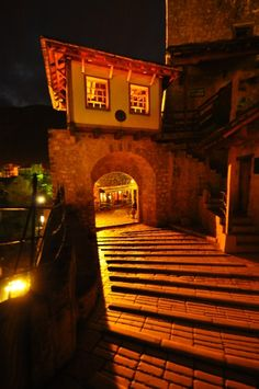Night lights across the cobblestone pathways of the Old Bridge in Travel Around The World, Around The Worlds, City Lights, Night Lights, Austro Hungarian, Bosnia And Herzegovina, Tour Guide, Luxury Travel, Old Town