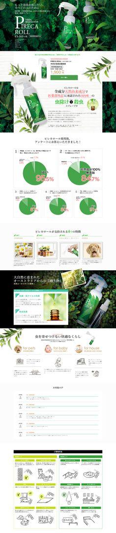 Organic+Life様の「ピレカロール」のランディングページ(LP)健康・癒し系|日用雑貨