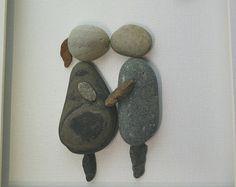 Reserved for Pati. ....Wedding Pebble art by madebynatureandme