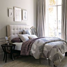 Pale gray and dusty lavender