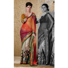 Multicolor Bhagalpuri Silk Saree