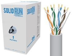 SolidRun by Sewell, Cat5e Bulk Cable, 250 ft., UTP, CMR, Light Gray, Pull Box - http://www.lowpricecables.com/computer-cables/computer-cables-cat-5e-network-cables/solidrun-by-sewell-cat5e-bulk-cable-250-ft-utp-cmr-light-gray-pull-box/