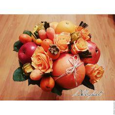 Купить Солнечный букет из фруктов и овощей - солнечный, букет, фрукты, овощи, необычный подарок