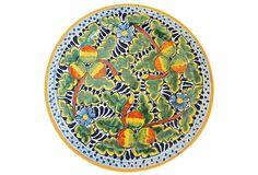 Fruit Talavera Round Plate, Multi on OneKingsLane.com