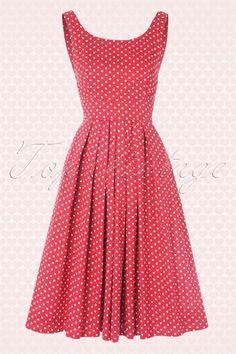 Emily and Finn 104 27 15634 Pink Isobel Polkadot A line Dress 20150121 0005W