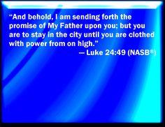 Image result for Luke 24:49 image