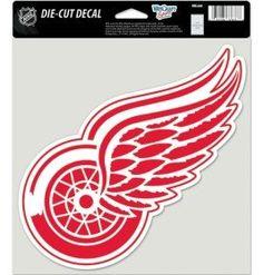 Detroit Red Wings Decal 8x8 Die Cut Color