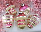 Vintage pink Christmas ornaments - OMG my Grandma had these I just love these :)