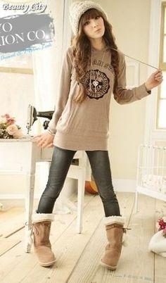 estilo adorable (trenzas) - New Trend Korea Fashion, Kpop Fashion, Kawaii Fashion, Cute Fashion, Girl Fashion, Fashion Outfits, Preteen Fashion, Kpop Mode, Casual Outfits