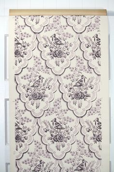 1950's Vintage Wallpaper Lavendar and Purple by HannahsTreasures