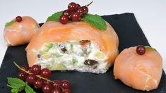 Bola de salmón (aperitivo navideño) Mousse, Paleo, Keto, Gordon Ramsay, Canapes, Flan, Tapas, Starters, Food Pictures