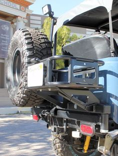 4PlusProducts | FJ40 | Tire Carriers | Rear Tow Bumper with Tire and Cooler Carrier